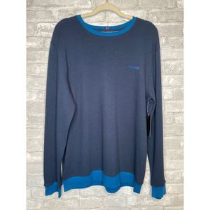 NWT! Ted Baker Navy Pullover Large